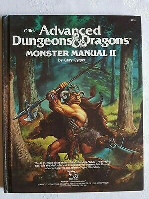 Advanced Dungeons and Dragons AD&D Monster Manual 2 II by Gary Gygax - Excellent