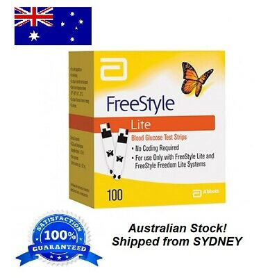 Freestyle LITE Blood Glucose Test Strips **SYDNEY STOCK**