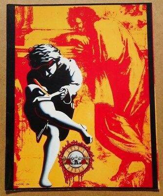 GUNS & ROSES Use Your Illusion 1991 US TOUR Souvenir Concert Program Guide Book