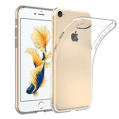 For iPhone 7 Crystal Clear Shockproof Silicone Protective Case Cover