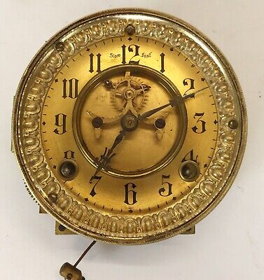 Ansonia Movement Dial Brocott Type Escapement Pendulum & Gong