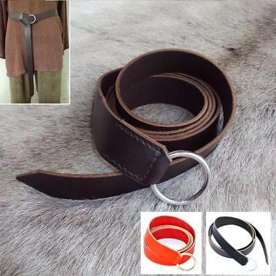 Medieval / Viking Leather Ring Belt Ideal For Re-enactment Stage LARP. #