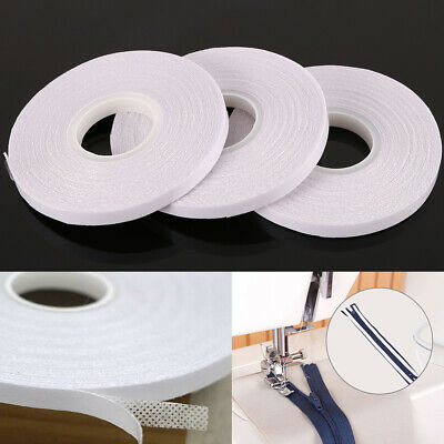 3pcs White Double Sided Tape for Sewing Quilting Wash Away Tape 10 Meter/Roll