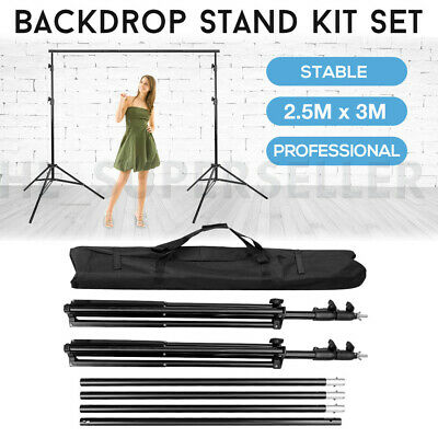 Studio Heavy Duty Backdrop Stand Photography Background Support Free Carry Bag