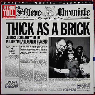 Jethro Tull - Thick As A Brick - MFSL - Vinyl