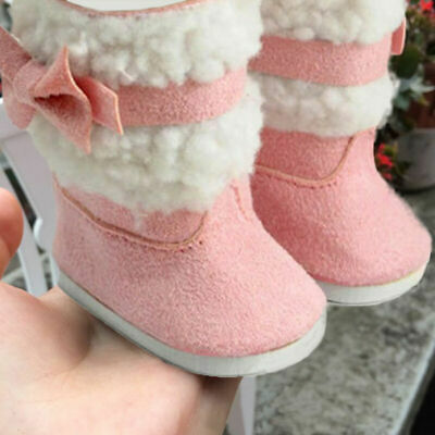 Fashion Doll's Pink Shoes Boots For 18 Inch Girl Doll Clothes Toy New