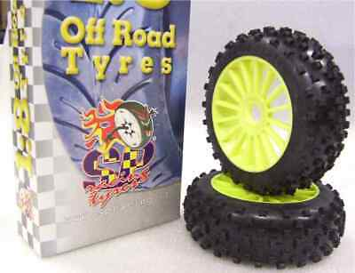 Gomme Tire 1/8 BUGGY SP RACING STAR PIN COMPETION A incollate SP08220 (1cp)
