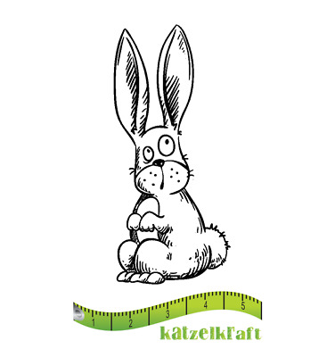 """Designs Stempel /""""Cinnamon with Bunny/"""" RS15 Ostern Hase Mädchen C.C"""