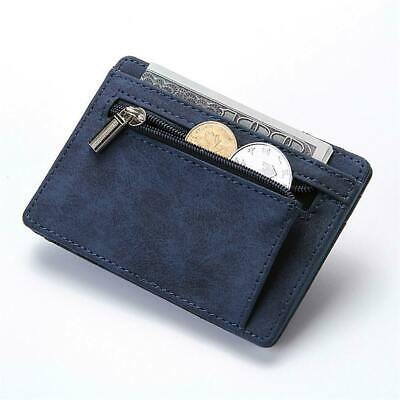 Slim Wallet Magic Credit Card Holder Coin Bag Money Clip Billfold Faux Leather H