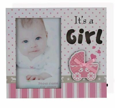 Baby Photo Frame LED Its a Boy Girl Pink Blue