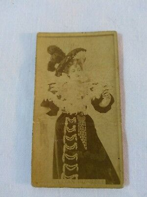 Sweet Caporal Tobacco Card Lillian Russell Actress Cigarette Advertising Antique