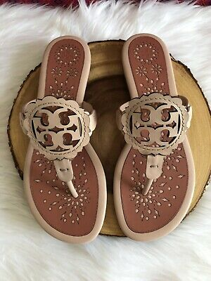 9ca1f9bf6 TORY BURCH NEW Miller Scallop Pink Leather Sandal TRUE TO SIZE DOESN ...
