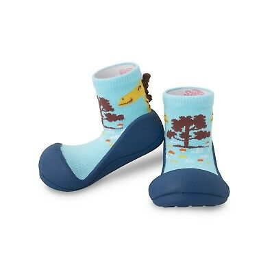 Attipas Pre-walker Socks Shoes Giraffe - NAVY - SIZE SMALL - BRAND NEW