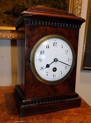 Antique French inlaid Japy Freres MANTEL CLOCK