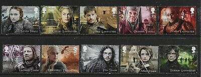 1) GB Stamps 2018  Game of Thrones. Good used.