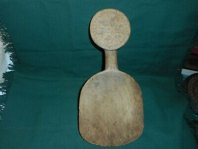 Antique Welsh treen butter paddle