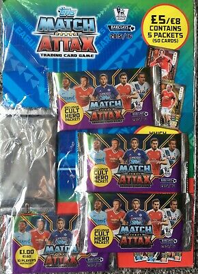 5 packs + Wayne Rooney Limited Edition Topps Match Attax 2015 2016 Multipack