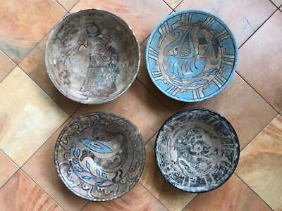 lot of 4 ancient Oriental plates
