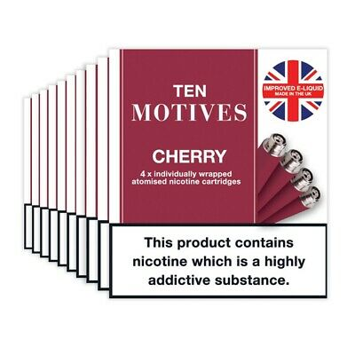 10 Motives Cherry Flavour Refills 10 pack cartridges 16mg SPECIAL OFFER