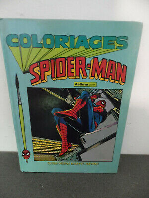 Album coloriages Spider Man Artima Color Marvel 1980