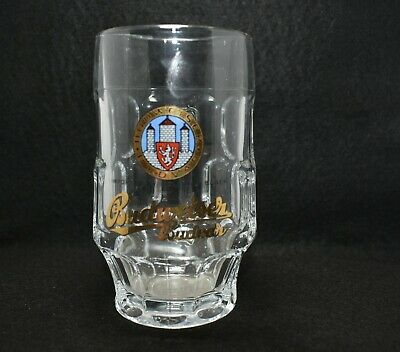 Collectable Budweiser Budvar Small Glass Beer Stein