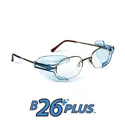 2 x  B26 Safety Glasses Side Shields With Fitting Instructions & Free UK Postage