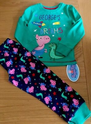 841973e0a1 MOTHERCARE PEPPA GEORGE Pig Dinosaur Baby Pyjamas New With Tags Size ...