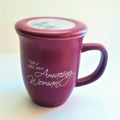 Abby Press Amazing Woman Mug & Coaster/Lid Ceramic - 14 Ounce Coffee/ Tea Mug