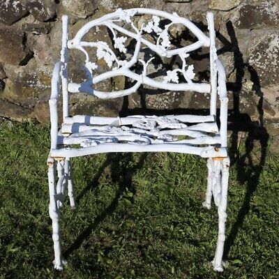 Antique Victorian Cast Iron Serpent & Twig Rustic Pattern Garden Seat or Bench