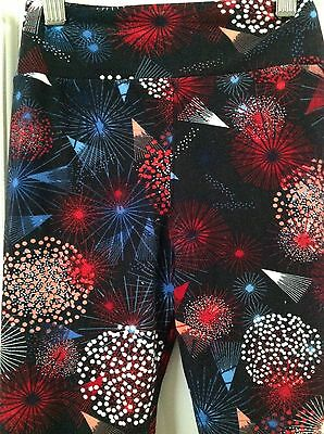 LULAROE AMERICANA DISNEY INSPIRED TWEEN FIREWORKS Leggings New HTF