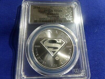 2016 CANADA 1oz - .9999 SILVER SUPERMAN Coin PCGS MS~69 - No MS-70's minted