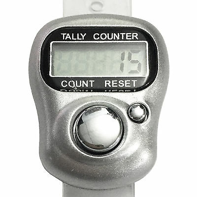 Finger Digital Tally Counter Inventory Clicker Electronic Record 5 Digit Reset