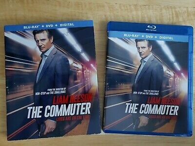 The Commuter (Blu Ray + DVD *No Digital Copy, 2018) Liam Neeson Action Drama