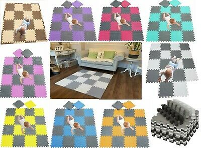 Quality 20pcs 31x31cm Interlocking EVA Soft Foam Kids Play Mats Tiles Babies Mat