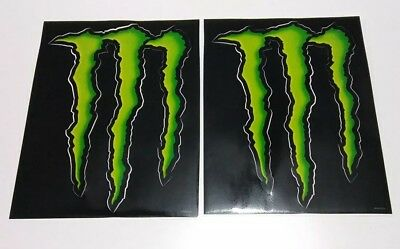 "2 Huge Monster Energy Logo Sticker Decal Sheets14""X10"" LARGE Buy it SHIPS FAST!"