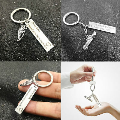 Drive Safe I Need You Here With Me Keyring Keychain Family Couple Love Key Rings