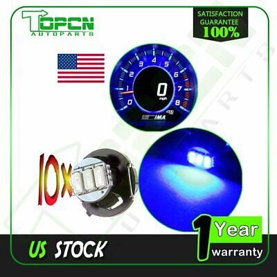 10X T4.2/T4 Neo Wedge LED Blue Dashboard Panel A/C Climate Heater Light Bulbs