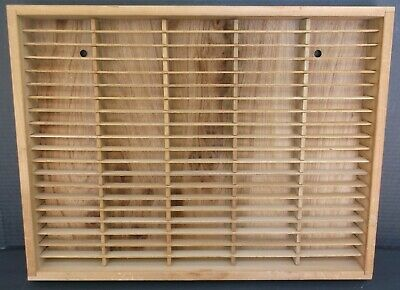 Wood Wall Hanging Cassette Tape Holder 100 Tape Capacity Unbranded Used Music