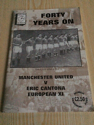 FORTY YEARS ON ~ MANCHESTER UNITED  V ERIC CANTANA EUROPEAN XI book GOOD COND
