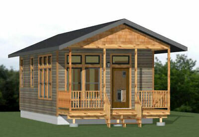 16X32 TINY HOUSE -- 511 sq ft -- PDF Floor Plan -- Model 3E
