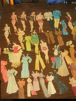 Jane Arden Newspaper Paper Dolls Small Format Mixed Lot
