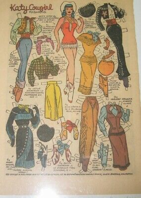 . Katy Keene Paper Doll Page from KK #22 Cowgirl