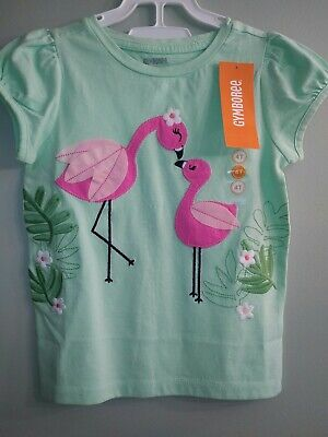 NWT 4t Gymboree Fruit Punch Flamingo t shirt top mom baby flamingoes green NEW