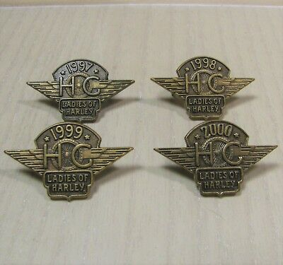 Harley Davidson Ladies Of Harley Motorcycle HOG 1997 1998 1999 2000 4 Pin Set