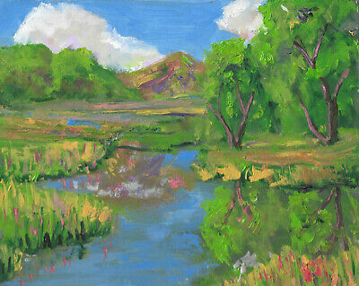 colorful modern contemparay landscape painting