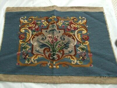 Large Chippendale Needlepoint Design With Floral And Architectural Pattern
