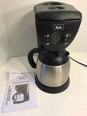 Melitta thermal  Coffee Maker,  ME10DTB 10 Cup deluxe programable