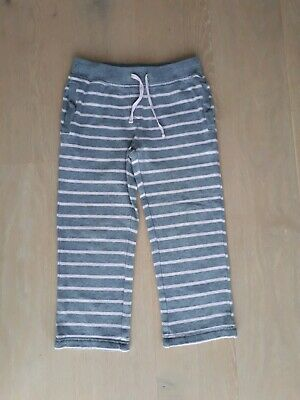 Girls Laura Ashley grey and pink jogging sports PE trousers  age  5 to 6 years