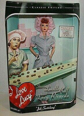 I Love Lucy Barbie Doll Mattel New in Box Job Switching Ep 39 Candy Factory 1998