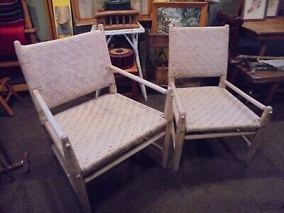 Russell Wright RARE Chairs,Old Hickory Russell Wright Designed Chairs,MCM Chairs